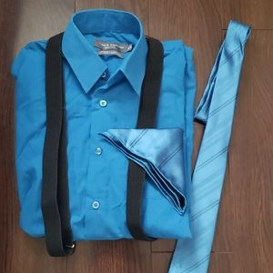 Bundle-Shirt size 10-12, Tie & Suspenders!